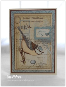 Botanical Tea Blue Bird Card