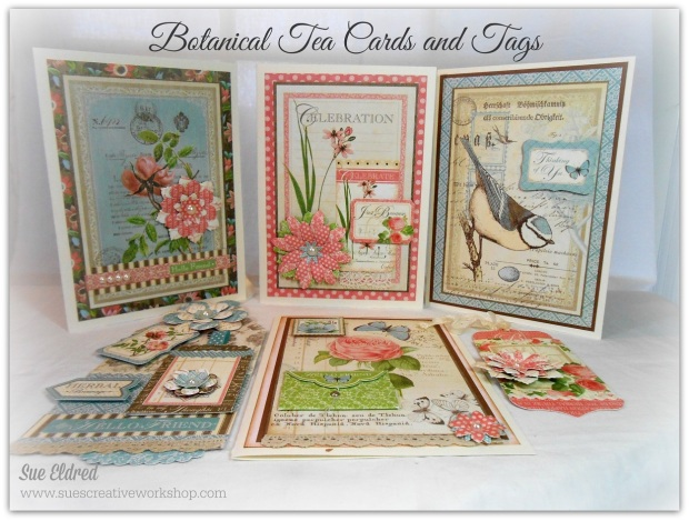 Botanical Tea Cards and Tags Class