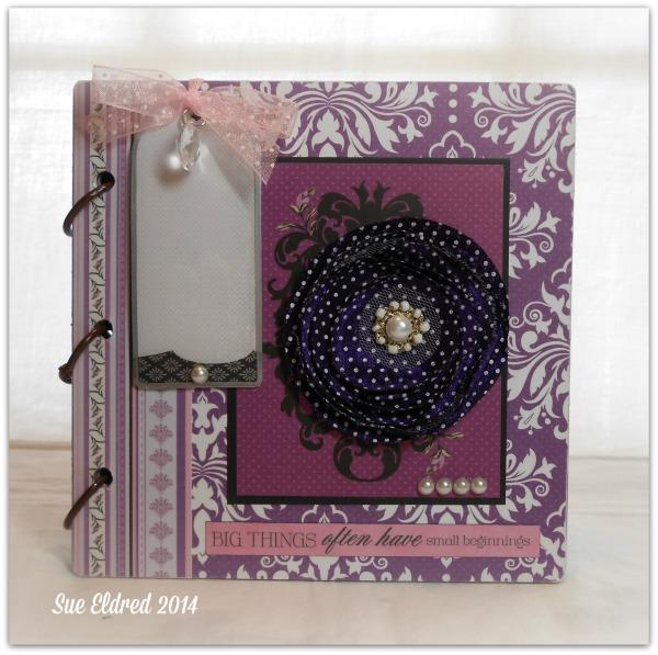 Clear Scraps 6 x 6 purple album
