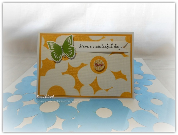 Clear Scraps Misted Card Have a wonderful day 3-26-14