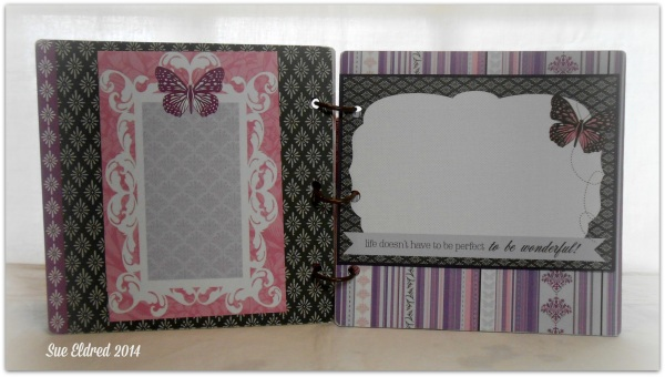 Clear Scraps Purple Album additional pages