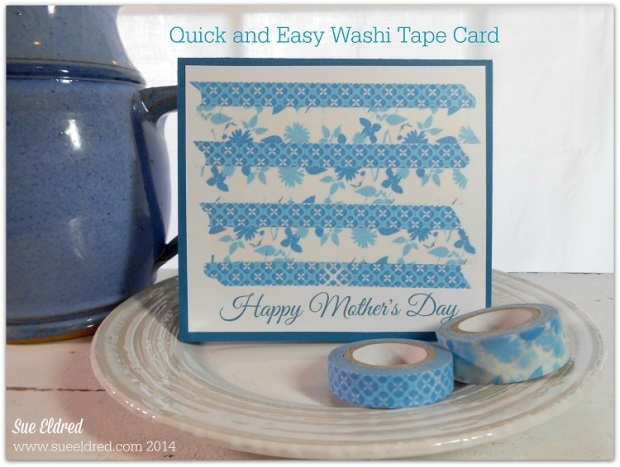 Quick and Easy Washi Tape Card