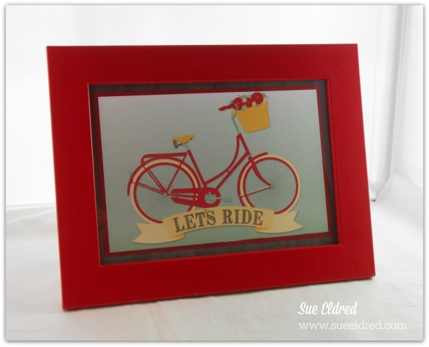 Red Framed Let's Ride