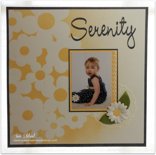 Serenity Layout for Clear Scraps