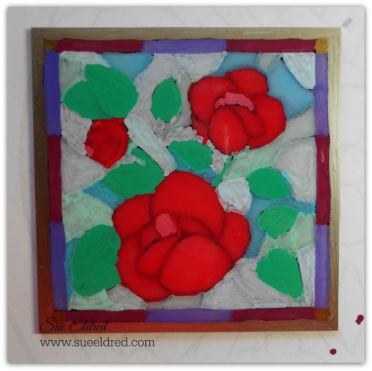 Reverse Glass Paint #4