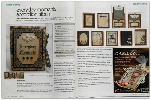 Craft ideas Magazine Everyday Moments