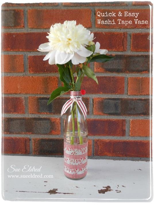 Quick & Easy Washi Tape Vase
