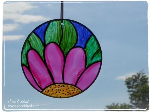 Suncatcher with Alcohol Ink