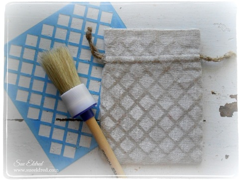 muslin pouch and stencil tools