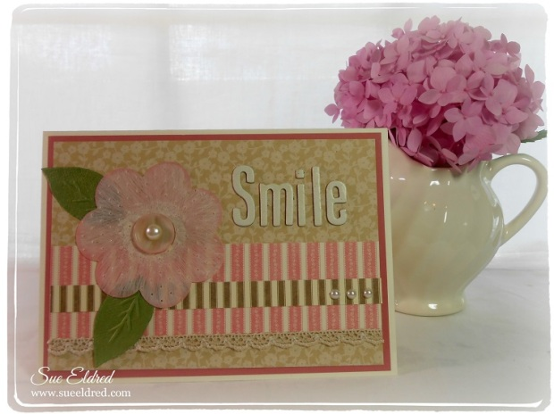 Smile Card for Clear Scraps Sue Eldred July 2014