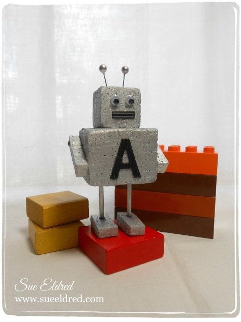 Sue Eldred's Mini Robot made with Smoothfoam July 2014