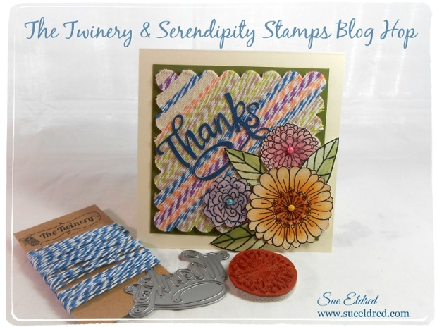 The Twinery & Serendipity Stamps Blog Hop Card