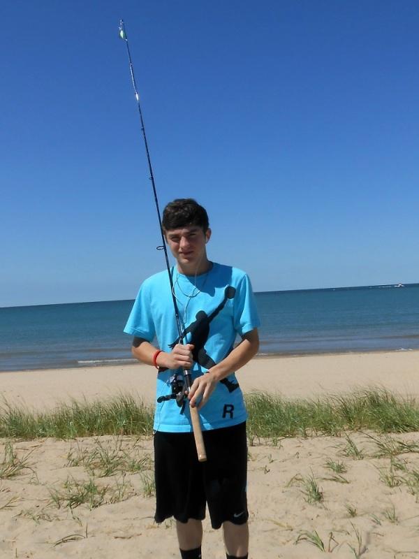 Justin fishing in St. Joe
