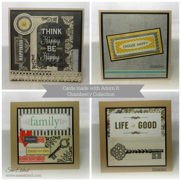 Adorn It Cards made with Chamberry Collection