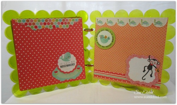 Clear Scraps Kaisercraft Scalloped Album pages 5 and 6