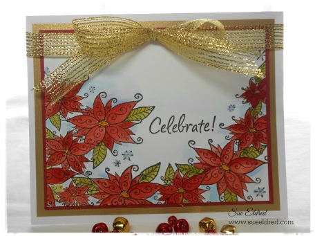 Serendipity Stamps Poinsettia Border