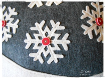 Snowflake Pillow close up