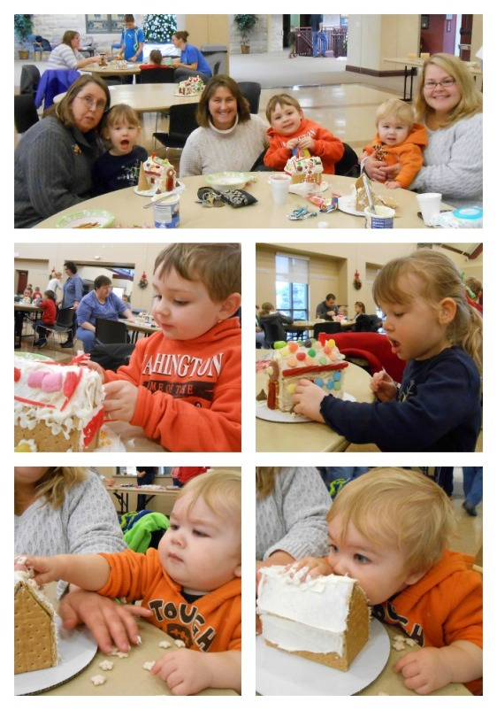 Gingerbread House Party Collage