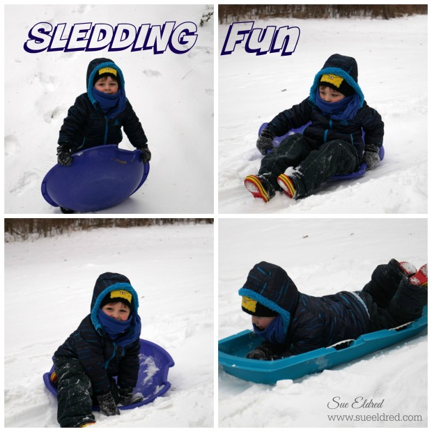 Sledding Fun Collage