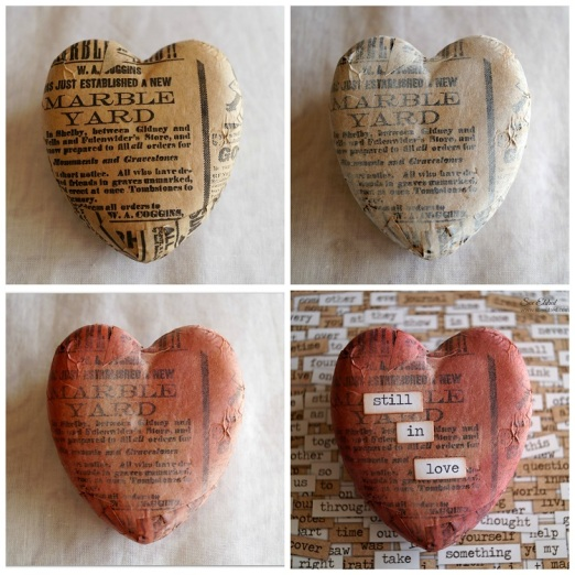 Vintage Heart Collage 2