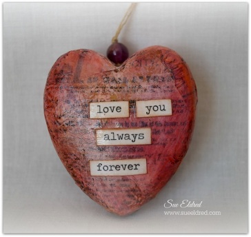 Vintage Inspired Heart Ornament with watermark
