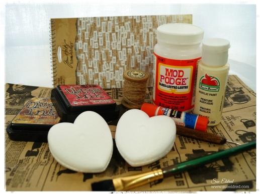Vintage Inspired Heart Supplies 1204