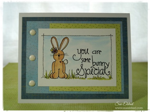 Adorn It Bunny Card 2115