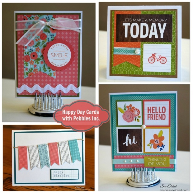 Happy Day Cards with Pebbles Inc. Collage