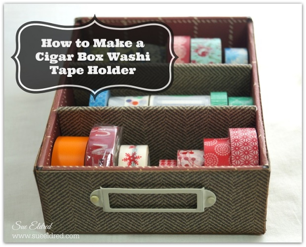 How to Make a Cigar Box Washi Tape Holder 2790