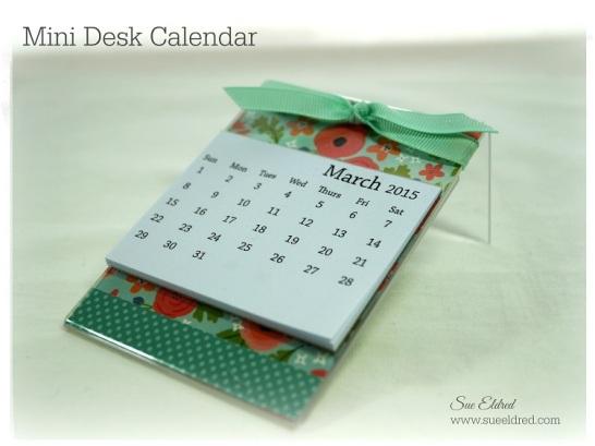 Mini Desk Calendar 3029