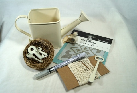 Shabby Watering Can Supplies 01328