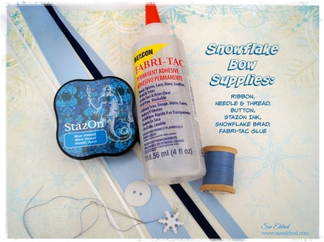 Snowflake Box Supplies