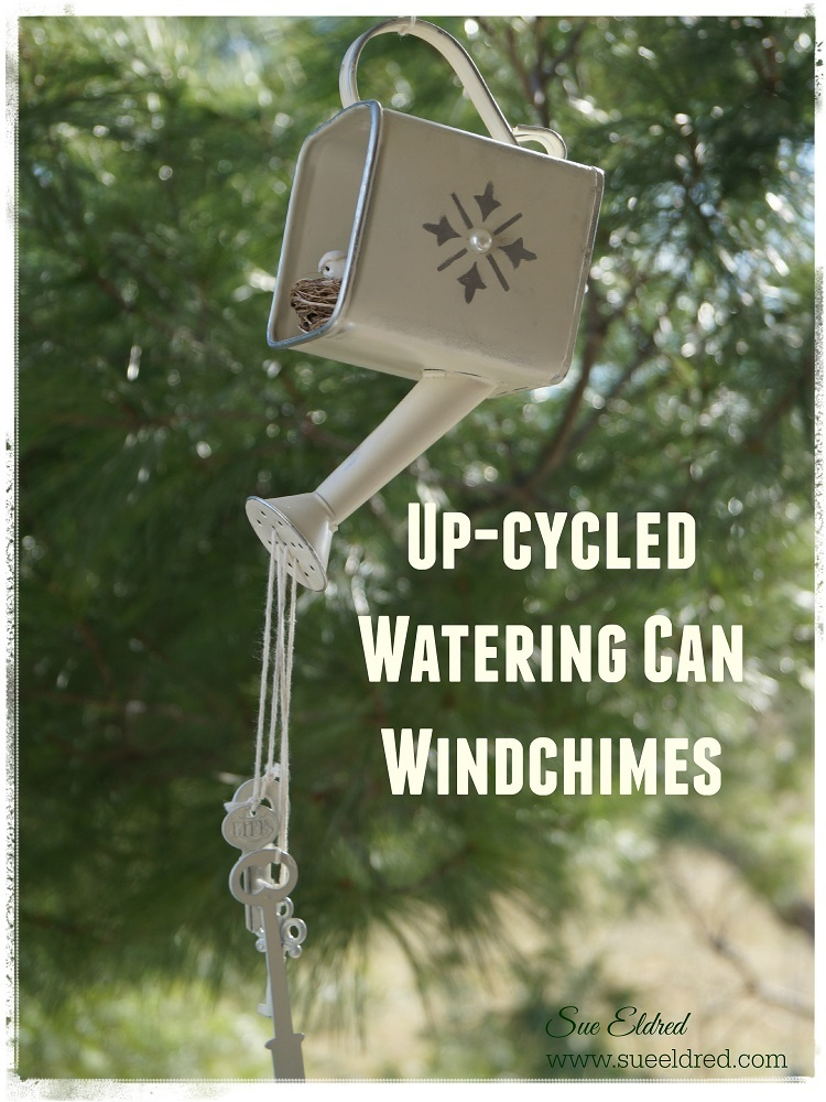 How to make an Up-cycled Watering Can Wind Chime… | Sue's Creative