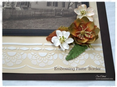 Embossing Paste Border 3092