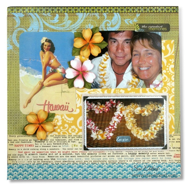 Hawaiian Hibiscus Scrapbook Page