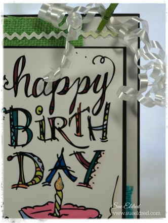 Tattered Tangles Birthday Tag Close Up 3370