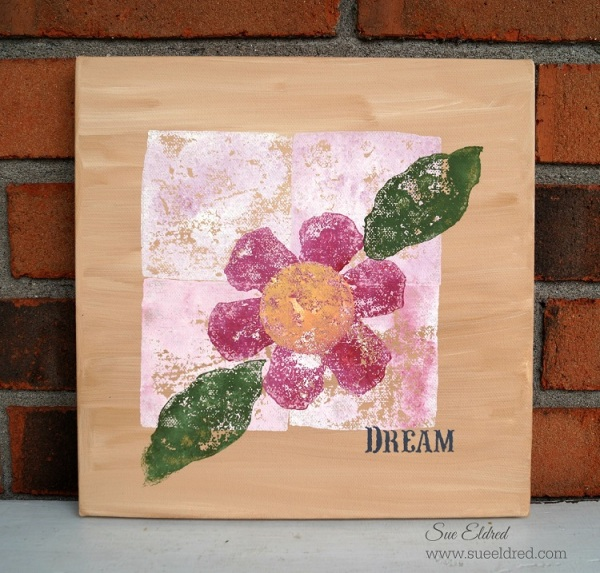 Block Stamping on Canvas with Smoothfoam
