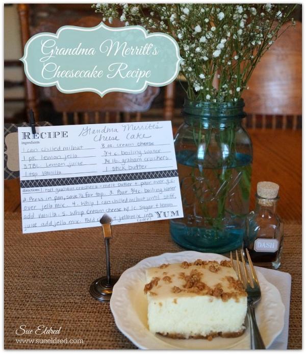 Grandma Merritt's Cheesecake Recipe