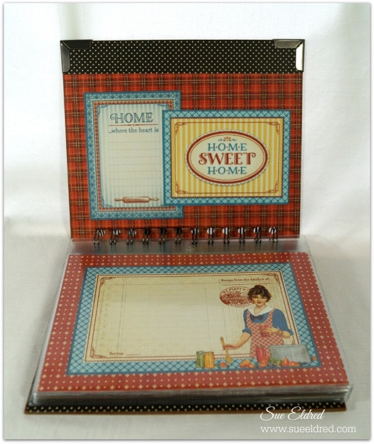 Graphic 45 Home Sweet Home Cookbook with Deflecto Pouches 4744