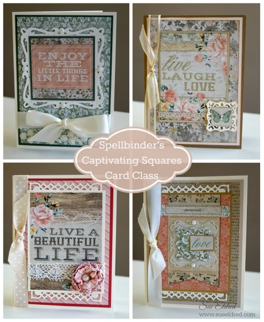 Spellbinder's Captivating Squares Card Class