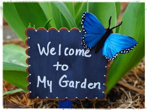 Welcome to My Garden Butterfly Sign 4758