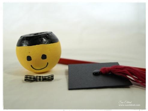 Smiley Face Graduation Pencil Topper parts