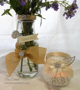 DIY Wedding Vase and Votive