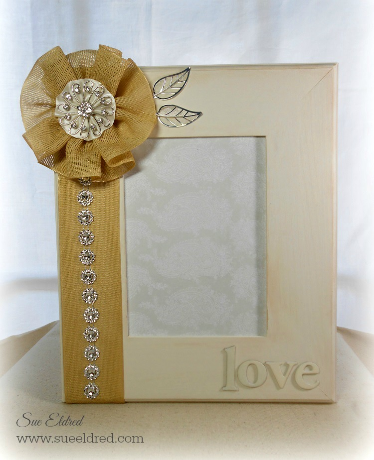 Make a special frame for a wedding day gift or another special event.