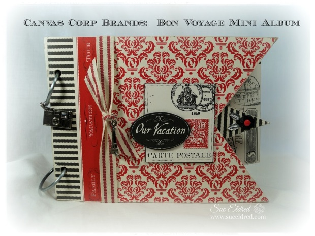 Sue Eldred's Canvas Corp Brands Bon Voyage Mini Album 06212