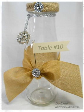 Wedding Table Marker Vase