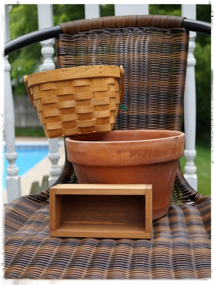 basket pot and box