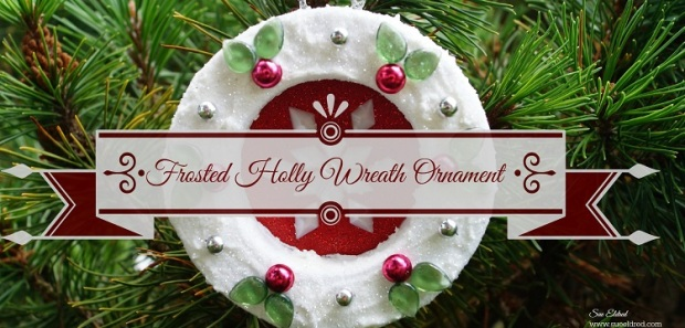 Frosted Holly Wreath Ornament
