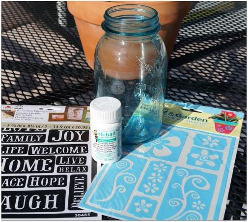 Etched Mason Jar Supplies 8819