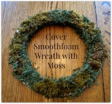 cover smoothfoam wreath with moss